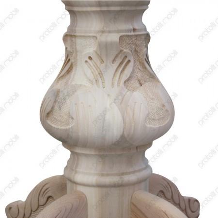 Basamento gamba centrale grezzo stile barocco intagliato
