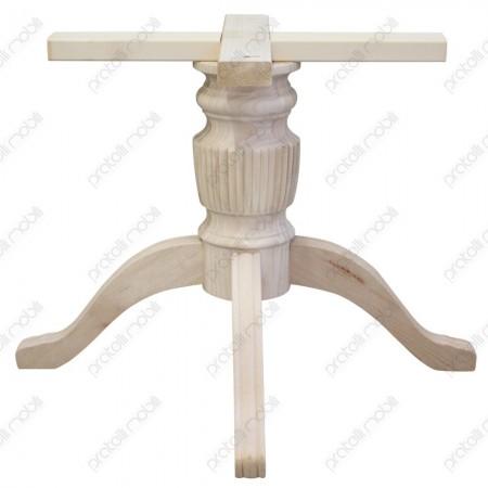 Basamento centrale grezzo per tavolo in legno