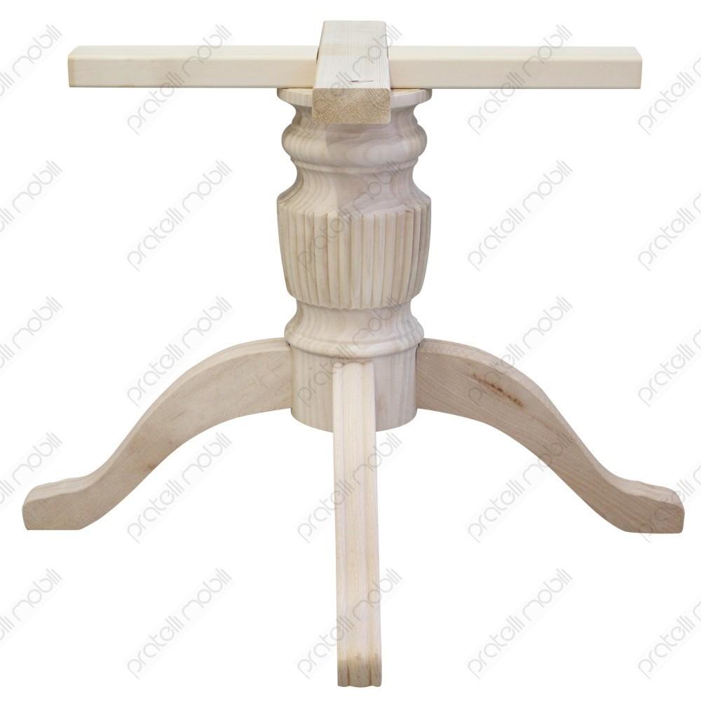 Legno Grezzo Per Tavoli basamento gamba centrale grezzo per tavolo mod. rigato