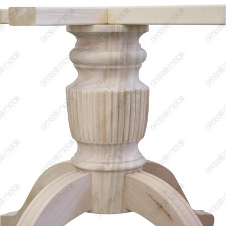 Gambone grezzo per tavolo tornito e rigato