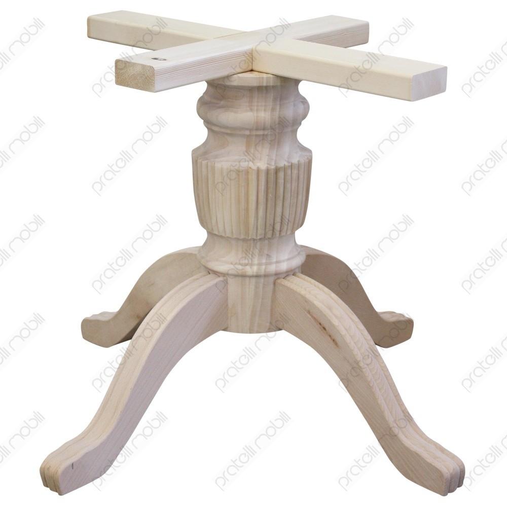 Tavolo Con Piede Centrale basamento gamba centrale grezzo per tavolo mod. rigato