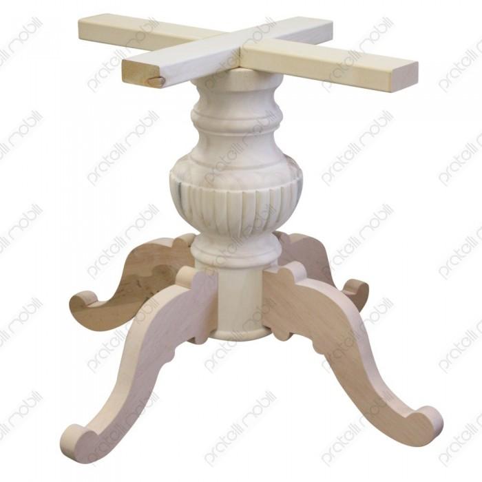 Gambone centrale grezzo per tavolo rotondo