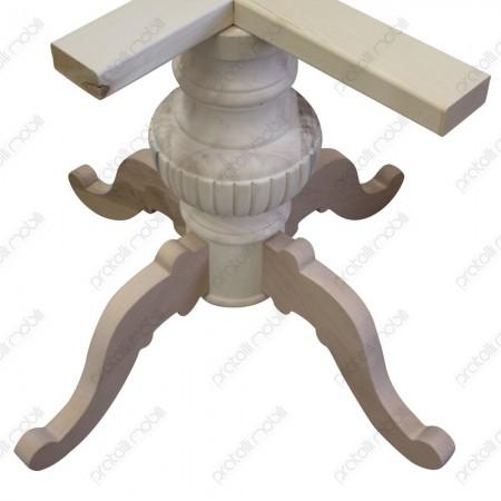 Basamento grezzo tornito in legno massello