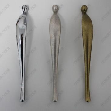 Maniglie per armadio Elegant, cromato, argento graffiato, oro anticato