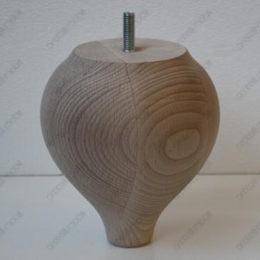 Piede in legno tornito...