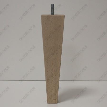 Piede grezzo in legno per mobili