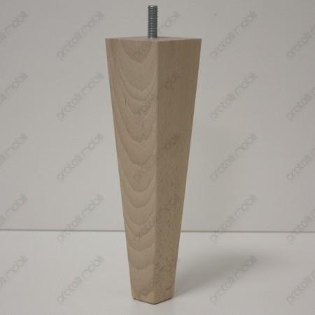 Piede in legno a spillo per mobili
