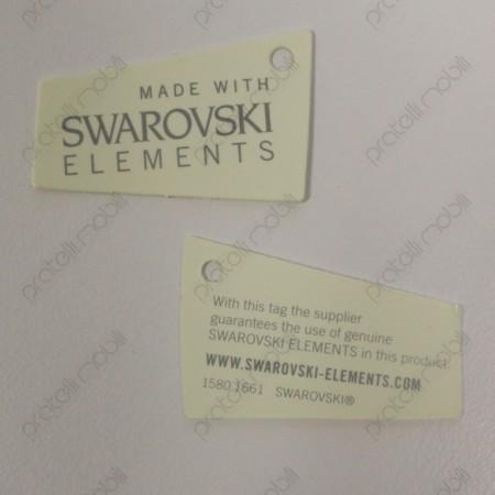 Pomello Quadro con certificato Swarovski